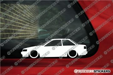 2x Low car outline stickers - Toyota Levin AE86 Coupe hachiroku